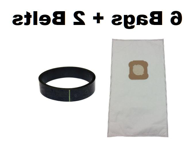 6 Vacuum Bags + 2 Belts for Kirby Ultimate G, Diamond Editio