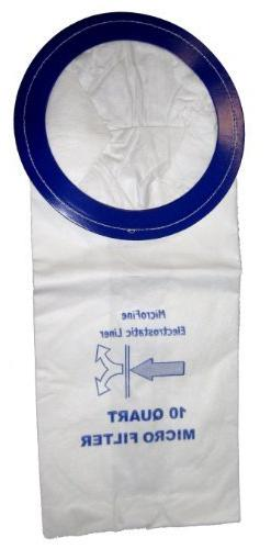 DVC Vacuum Bags For Pro-team10 Qt. Backpack Vacuums - 10 Pac