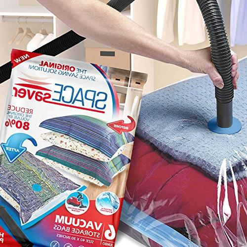 SpaceSaver Storage Bags 80% Double Zip Seal Leak Pump
