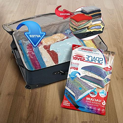 SpaceSaver Storage Bags , Save 80% More Double Seal & Leak Travel Pump