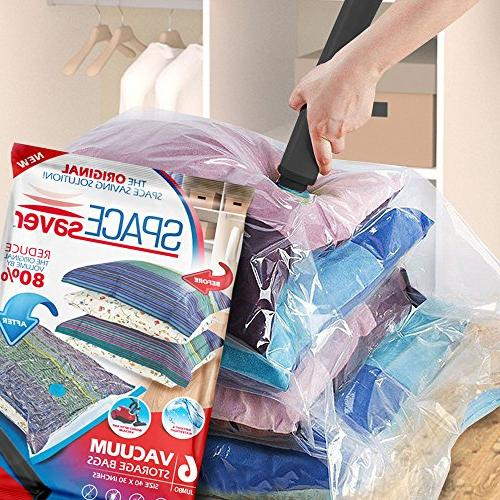 SpaceSaver Premium Storage 80% Storage Space. Double Zip Seal Leak Travel
