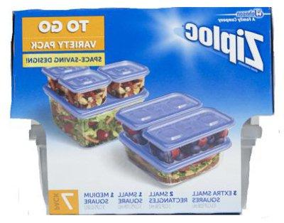 Ziploc Containers To Go Variety Pack, 7 ea