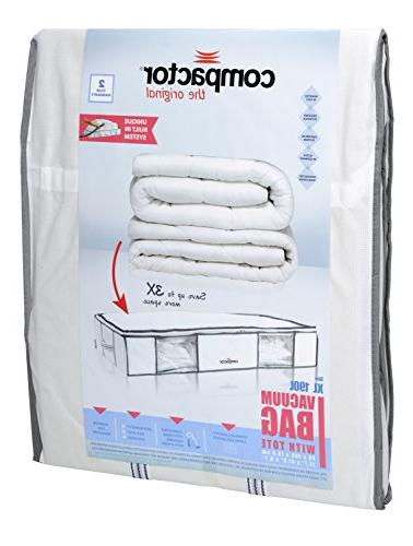 Compactor Vacuum Storage Under Solution with Vacuum to protect Clothes, Pillows, Duvets, Blankets Extra Large XL