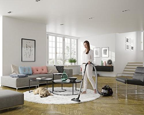 Electrolux Silent Performer Cyclonic less Canister Vacuum includes tools with crevice tool washable HEPA and Air