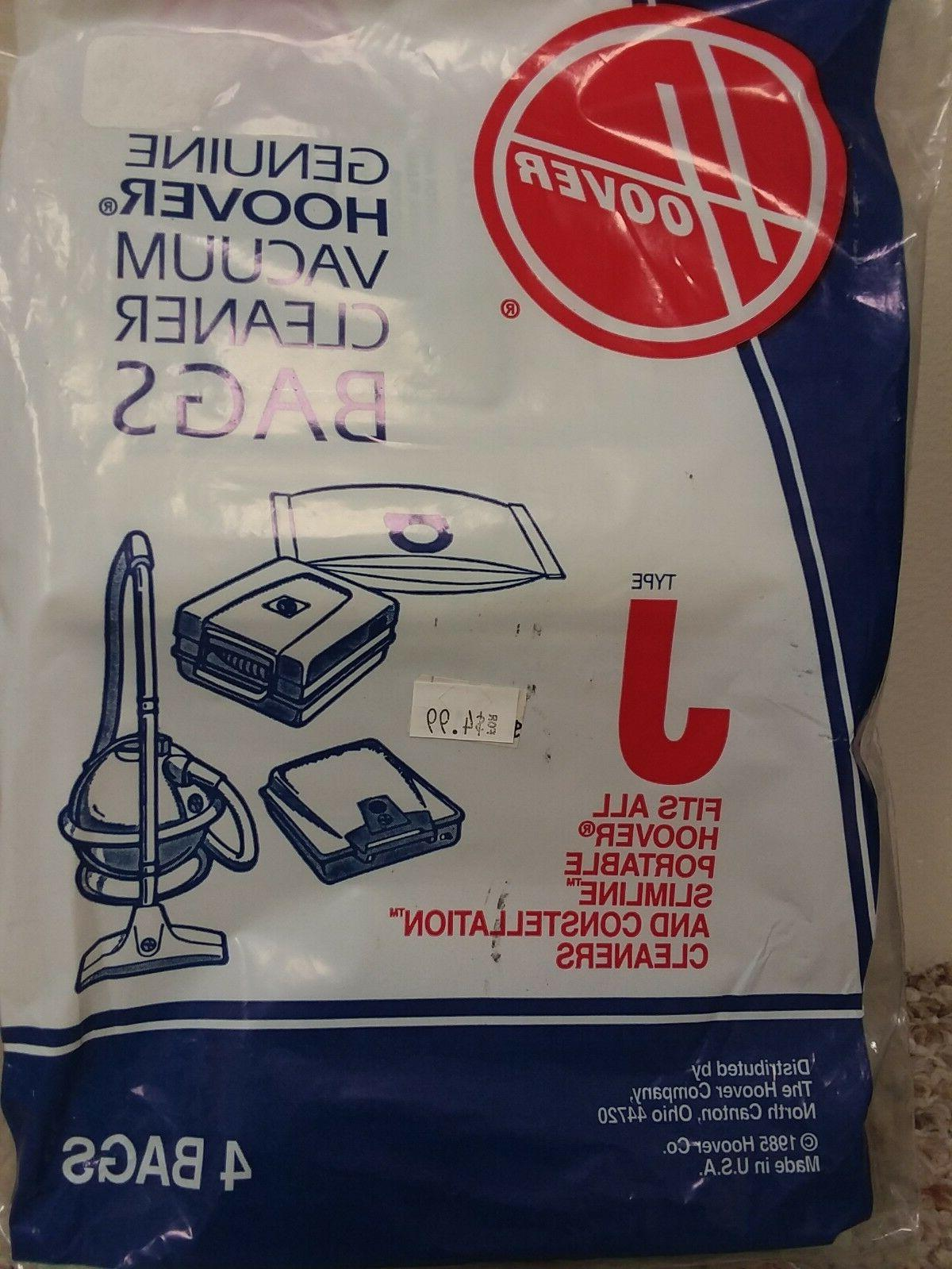 GENUINE HOOVER TYPE J VACUUM BAGS #4010010J