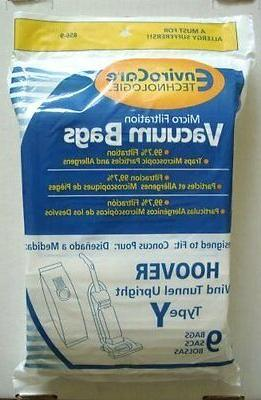 Hoover WindTunnel Y Vacuum Bags with Closure