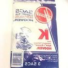 NEW HOOVER TYPE K VACUUM  BAGS FITS CANISTER  SPIRIT ENCORE