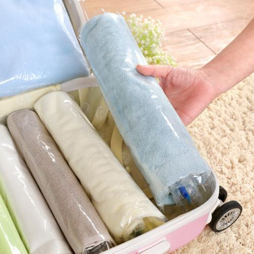 No Vacuum Seal Zipper Travel Bags Roll Up Compression Space
