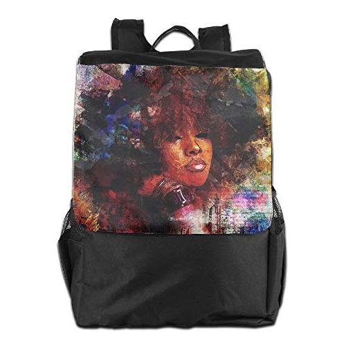 outdoor backpacks african women with black hair