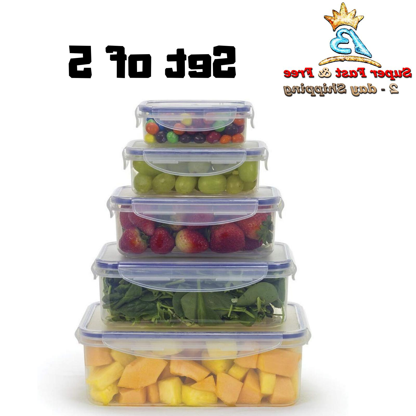 plastic food storage containers with lids bpa