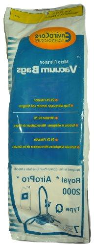 Royal AiroPro 2000 Type Q Canister Vacuum Cleaner Bags, Envi