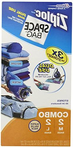 Space Bag Dual Use Dual-Use Vacuum Seal or Roll Storage Bags
