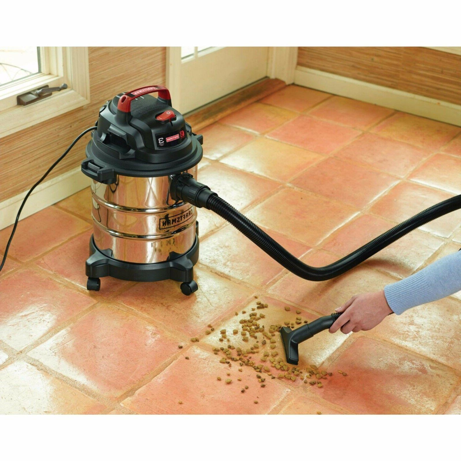 Craftsman Stainless Steel Dry 5 Vacuum HP