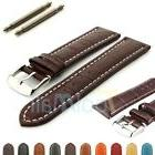 Two-piece Men's Genuine Leather Watch Strap Band Croco RM SS