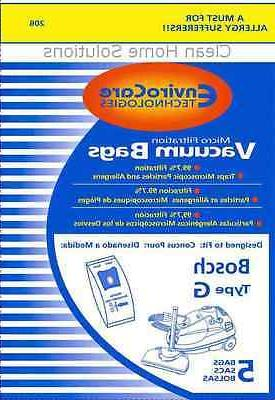 type g allergy vacuum cleaner bags bbz51afg2u