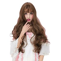 Light Flaxen Long 32 Inches Curly Heat Resistant Cosplay Wig
