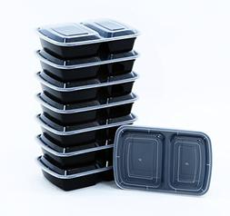 BlacWare  Meal Prep 2 Compartment Food Storage Containers Du
