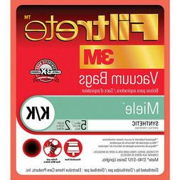 Filtrete Miele K/K Synthetic Bags and Filters, 5 Bags and 2