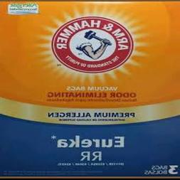 New Arm and Hammer Odor Eliminating 3 Vacuum Bags Eureka Sty