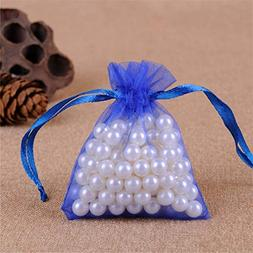 10Pcs 7X9cm Organza Bagswedding Party Gift Bags Baby Shower