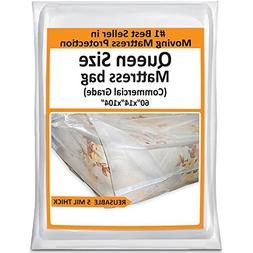 Queen Mattress Bag For Moving - Heavy Duty Cover Protector 5