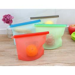 Reusable Eco-friendly Silicone Food Fruit Fresh Bag Vacuum S