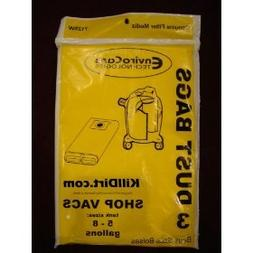EnviroCare Replacement Vacuum Bags for 5 and 8 Gallon Wet Dr