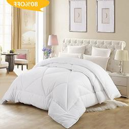 Abakan Queen Comforter Soft Goose Down Alternative Duvet Ins