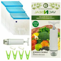Sous Vide Bags Kit for Sous Vide Cookers - 30 Reusable Food