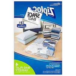 Ziploc Space Bag 4-Piece Flat Combo Set l Easy to Organize a