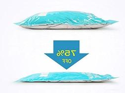 Pack of 6 Travel Space Saver Bags Roll-Up Compression Storag
