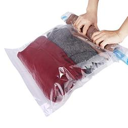 HOMEIDEAS 15 Pack Travel Space Saver Bags - Roll Up Storage
