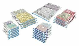 Whitmor Spacemaker Vacuum Storage Bags, Set of 20, Clear W