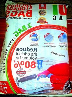 Super Space Save Storage Vacuum Bags - 2 Jumbo Size - Double