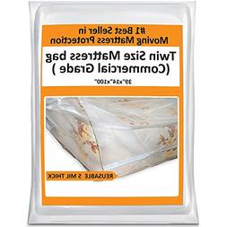 Twin Mattress Bag For Moving Heavy Duty Cover Protector 5 Mi