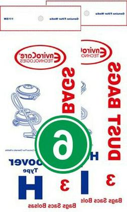 Hoover Type H Replacement Vacuum Bags for Hoover Canisters 6