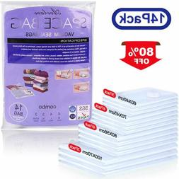 Vacuum Bags 14 Pack Space Bag Saving Storage Seal Compressed