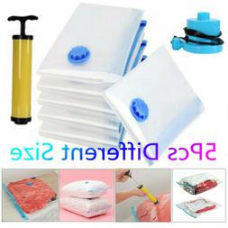 Vacuum Compressed Storage Bags Space Saving Clothes Bedding