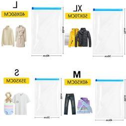VACUUM COMPRESSED STORAGE BAGS SPACE SAVING TRAVEL CLOTHES B