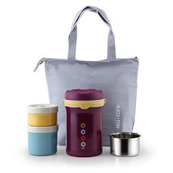 AKS Vacuum Insulated stainless steel lunch jar, with a tote