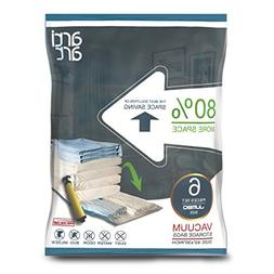 Vacuum Storage Bags Jumbo Set of 6 Space Saver Bags for Clot