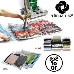vacuum storage bags set compress