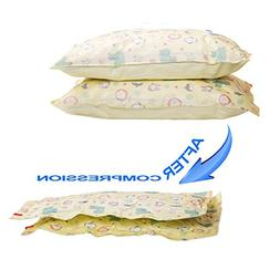 Large Vacuum Storage Bags Works with Any Vacuum Cleaner or H