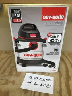 5 Gallon Wet Dry Vacuum 4.5 Peak HP Rugged Stainless Steel T