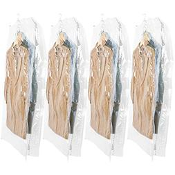 TAILI Hanging Vacuum Wide-Side Space Saver Bags, Set of 4 Lo